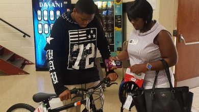 Photo of Students Receive Free Bikes, Helmets for Perfect Attendance