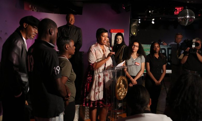 D.C. Mayor Muriel Bowser speaks on June 26 at the ceremony to launch the 38th year of the Marion S. Barry Summer Youth Employment Program. (Courtesy of dc.gov)
