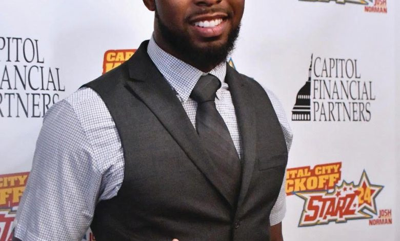 Washington Redskins cornerback Josh Norman smiles for the camera during a June 13 charity event for his Starz24 foundation at Hawthorne on U Street in Northwest. (Travis Riddick/The Washington Informer)