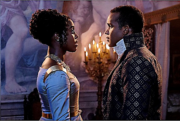 "Lashana Lynch (Rosaline Capulet) and Sterling Sulieman (Prince Escalus of Verona) star in ""Still Star-Crossed."" (Courtesy of ABC)"