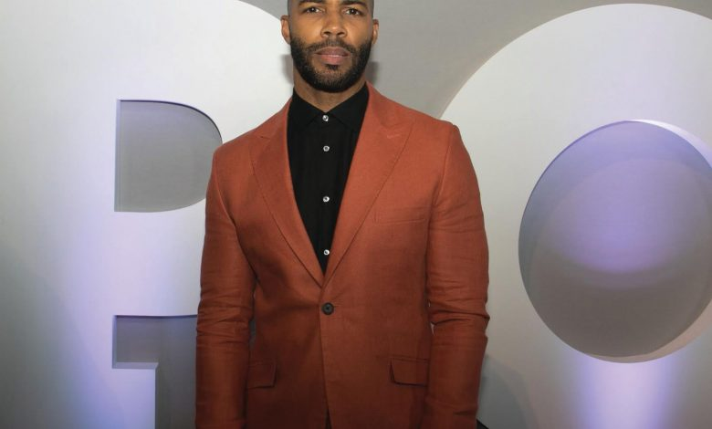 """Omari Hardwick of Starz' """"Power"""" poses on the red carpet during a June 8 red-carpet event at at the Newseum in D.C. for the show's season 4 premiere. (Shevry Lassiter/The Washington Informer)"""