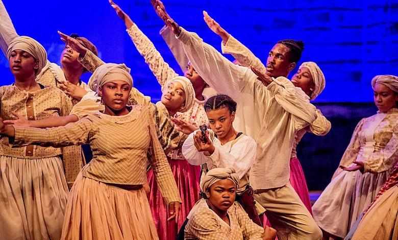 "The cast of ""Harriet and the Underground"" (Courtesy of Bishop McNamara High School Sankofa program)"