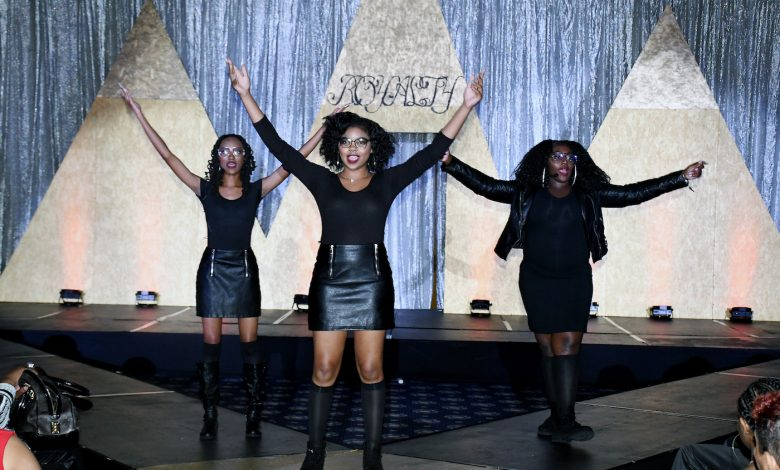 """Designer and wardrobe stylist Jarmal Harris employs Ward 8 children for his 10th annual """"Royalty"""" fashion show at The Sphinx Club in northwest D.C. on Aug. 5. (Roy Lewis/The Washington Informer)"""