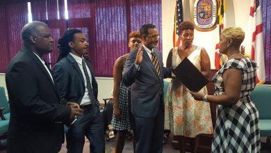 Photo of Prince George's School Board Members Sworn In