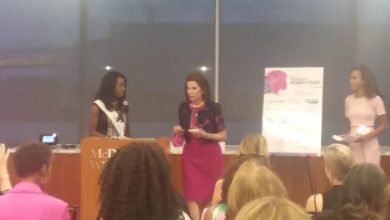 """Nancy Brinker, Susan G. Komen founder, is honored at Breast Care for Washington's """"Women of Vision"""" fundraising event on Sept. 13 in northwest D.C. (Courtesy photo)"""