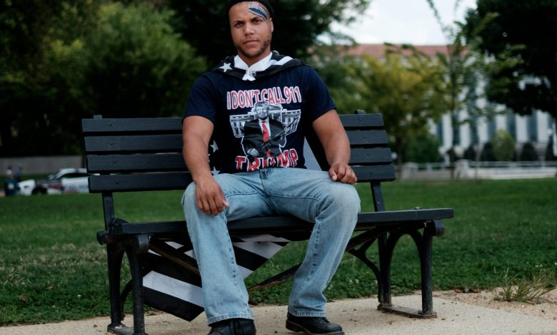 Jordan Davis, 25, traveled from Berkeley, Calif., to attend the Mother of All Rallies in D.C. on Sept. 16. (Michael McCoy/The Washington Informer)