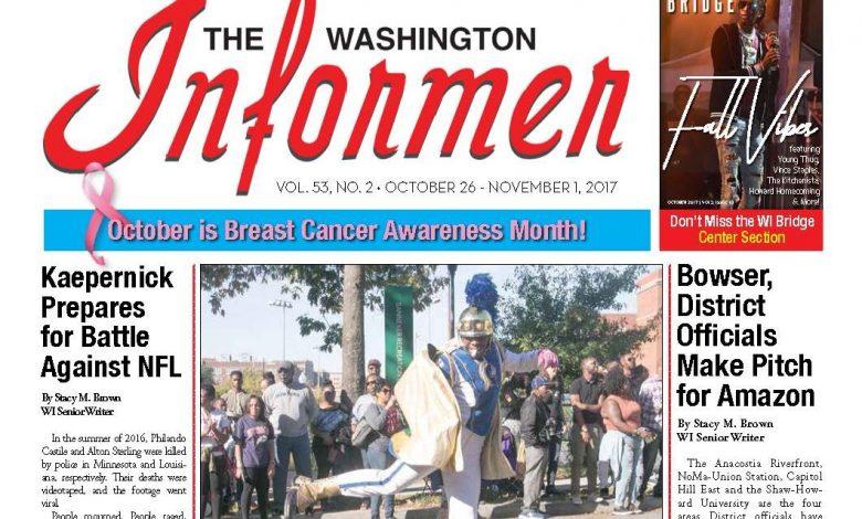 Photo of Washington Informer Issue, October 26 – November 1, 2017