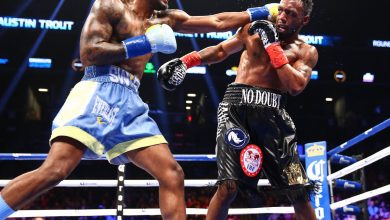 Photo of Hurd Stops Trout in 10th, Successfully Defends IBF Title