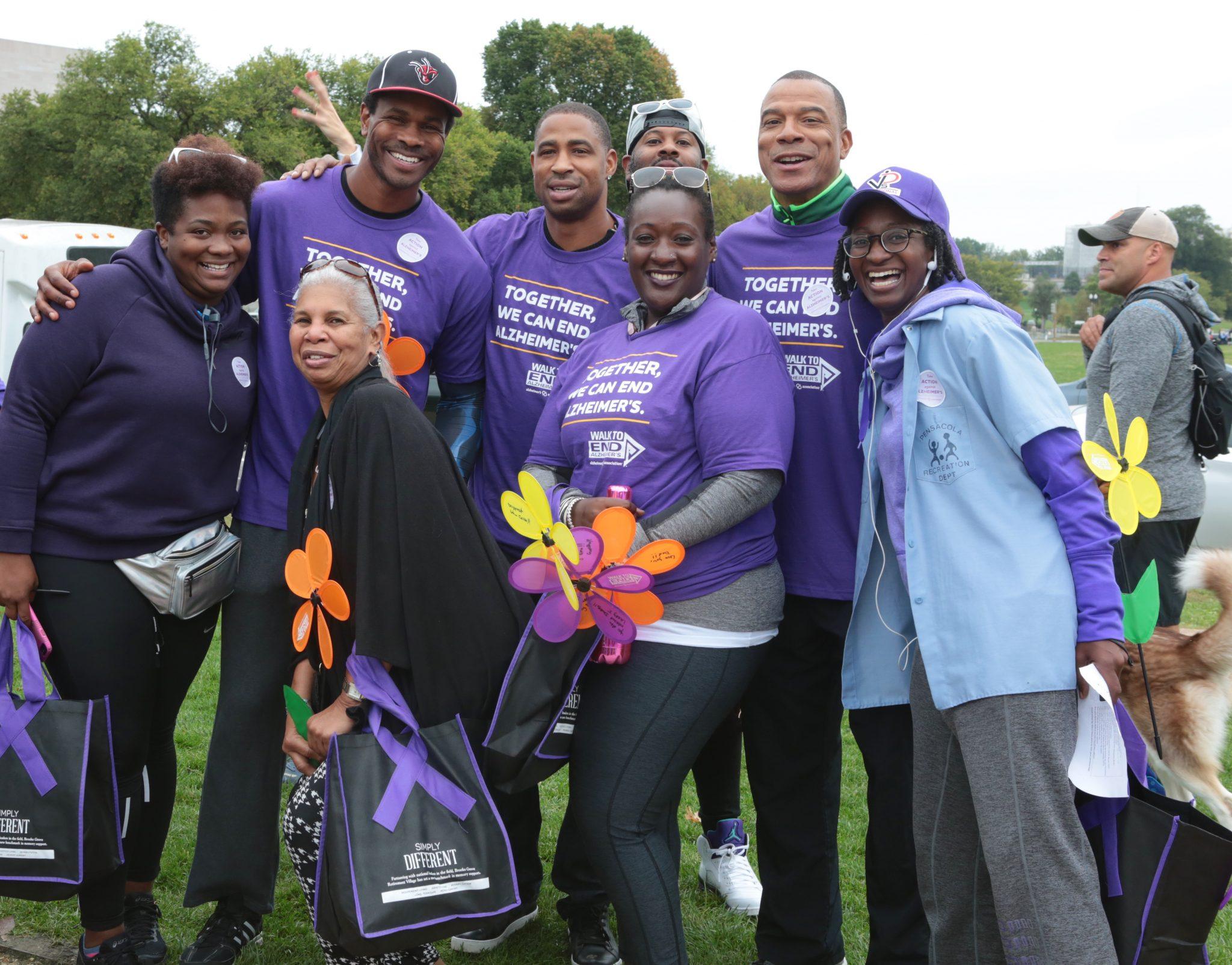 District residents walk for Alzheimer's. (Demetrious Kinney/The Washington Informer)