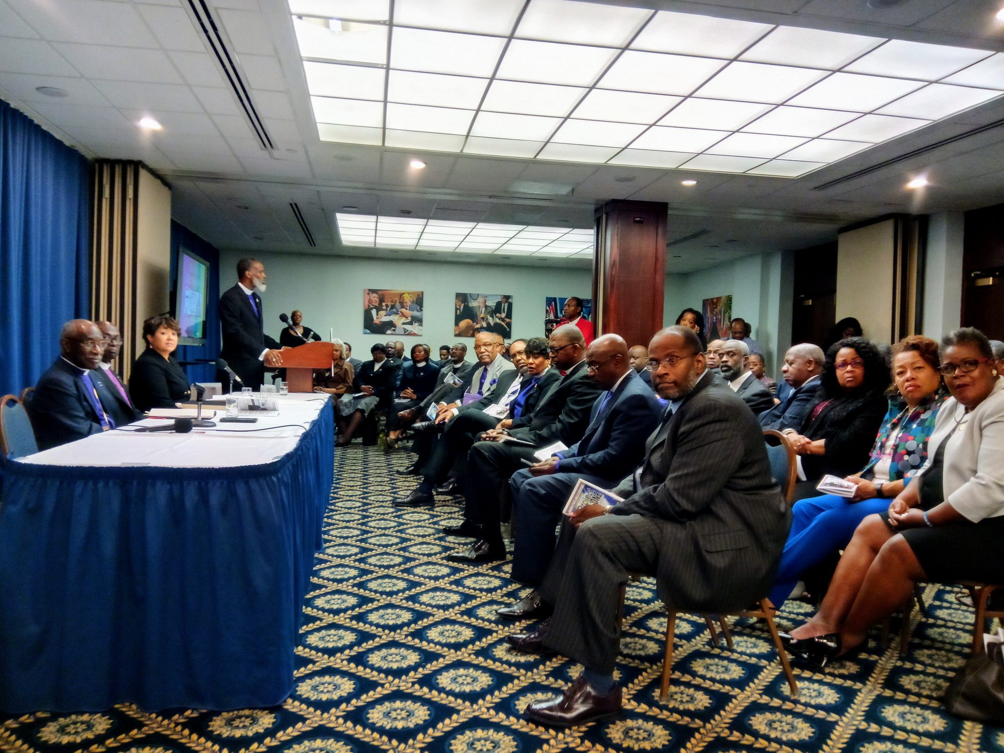 Black Methodist United, a nationwide assemblage of African-American Methodist clergy, convene Oct. 4 at the National Press Club in D.C. to discuss eradication of high unemployment among African-Americans. (Dorothy Rowley/The Washington Informer)