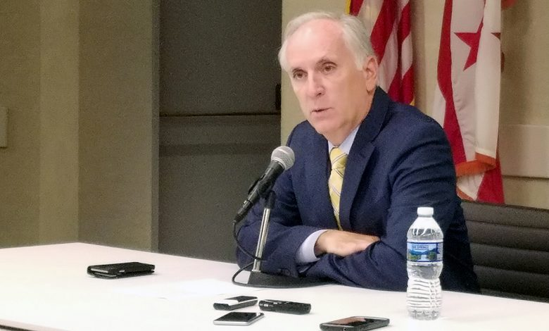 Metro General Manager Paul Wiedefeld holds a press briefing at the transit agency's headquarters in northwest D.C. on Sept. 28. (William J. Ford/The Washington Informer)
