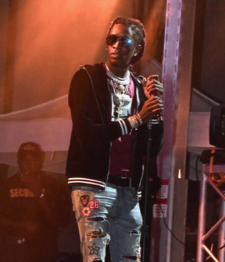 Rapper Young Thug performs during the All Things Go Fall Classic music festival at Union Market in northeast D.C. on Oct. 7. (Travis Riddick/The Washington Informer)