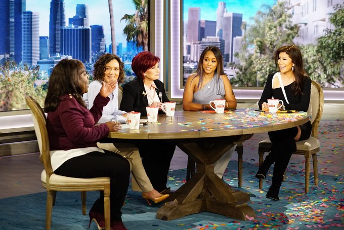 """Rapper Eve (second from right) has joined CBS's """"The Talk"""" as a permanent co-host. (Courtesy of CBS)"""