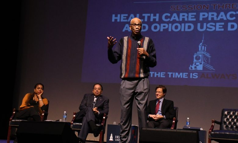 A health forum on D.C.'s opioid crisis is held in Howard University's Cramton Auditorium in northwest D.C. on Nov. 2. (Roy Lewis/The Washington Informer)