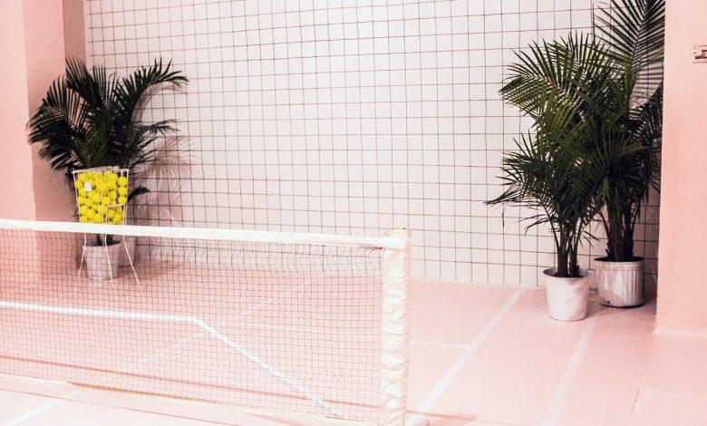 The Future of Sports tennis installation at 700 H Street NE (Courtesy of Nicole Pinedo)