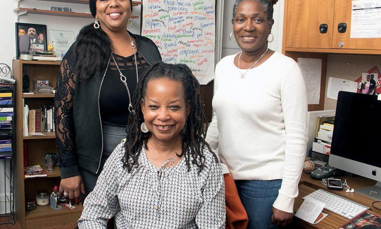 From left: The Washington Informer's Mable Neville, Denise Rolark Barnes and Angie Johnson