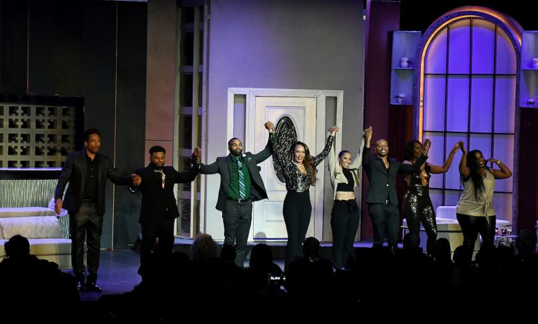 "The stellar cast of ""Two Can Play That Game"" takes its bows. (Roy Lewis/The Washington Informer)"