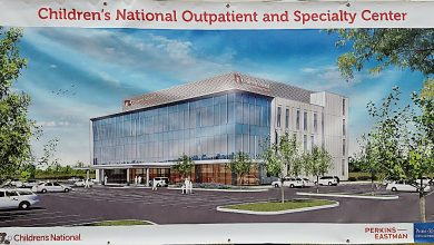 A rendering of Children's National Outpatient and Specialty Center, scheduled to open in 2020 at the Woodmore Towne Centre in Glenarden (William J. Ford/The Washington Informer)
