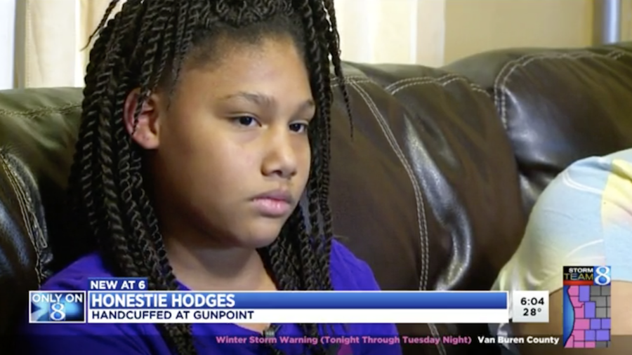 Photo of Cops Who Cuffed Crying 11-Year-Old Black Girl at Gunpoint Will Not Be Disciplined