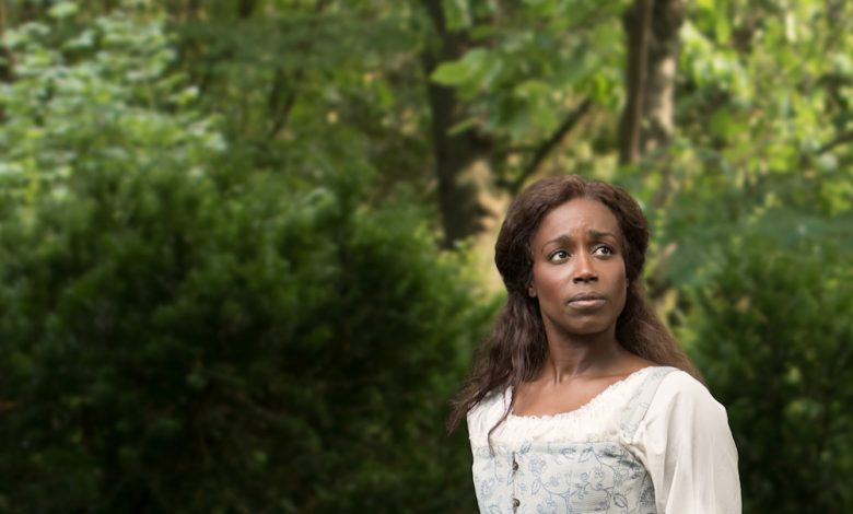 Felicia Curry plays Susannah, an enslaved woman who is tempted to fight for the British when they promise her freedom. (Photo by Christopher Mueller)