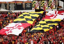 The flags representing the University of Maryland (Daniel Kucin Jr./The Washington Informer)