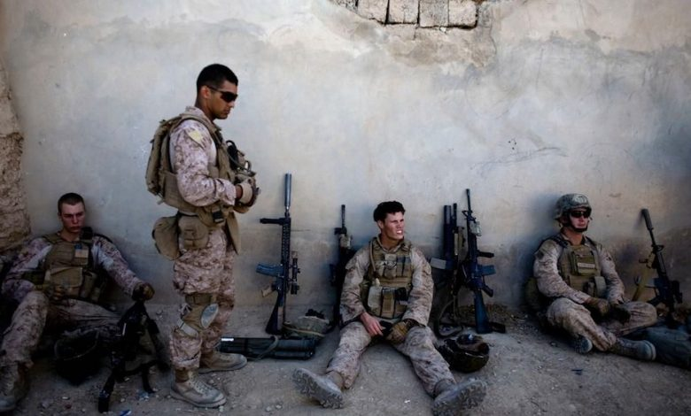Soldiers rest from the battle. (Courtesy of Fox News)