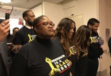 Photo of Black Leaders Arrested on Capitol Hill in Immigration Protest