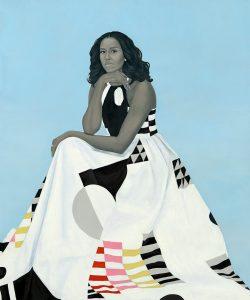 Michelle Obama portrait by Amy Sherald