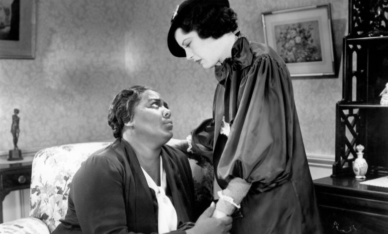 "Louise Beavers (left) plays a maid whose daughter (Fredi Washington) passes for White in ""Imitation of Life."" (Courtesy of Universal Pictures)"