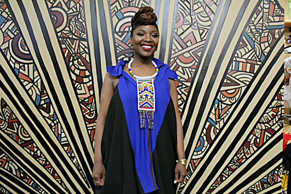 Anika Hobbs, lead curator and founder of Nubian Hueman, poses at her Black Luv Experience event. (Brigette White/The Washington Informer)