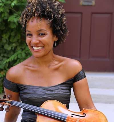 """The National Philharmonic kicks off its spring concert season with Sphinx Competition winner and acclaimed violinist Melissa White, who will perform """"SpiritedBrahms""""at The Music Center at Strathmore. (Courtesy of the National Philharmonic)"""