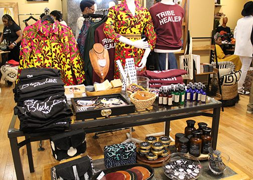 Wares available in the Nubian Hueman boutique during the Black Love Fest. (Brigette White/The Washington Informer)