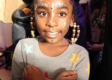A young girl who has received a face painting at the Black Love Fest. (Brigette White/The Washington Informer)