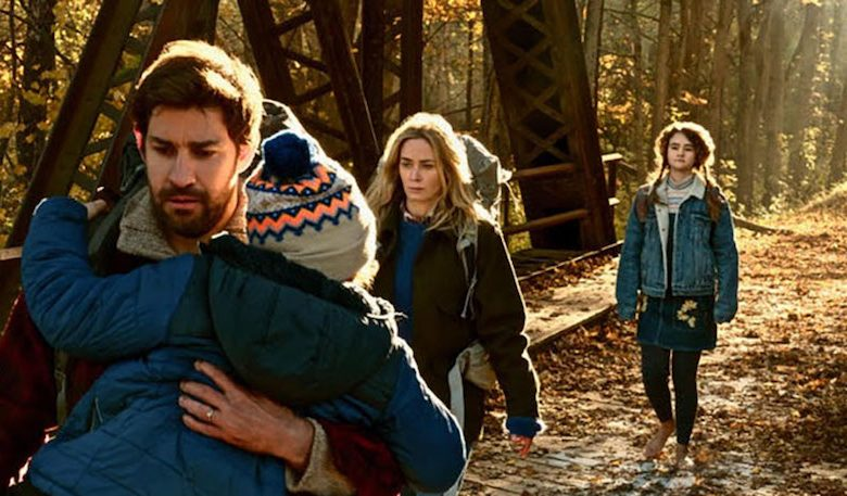 """From left: John Krasinski, Noah Jupe, Emily Blunt and Millicent Simmonds star in """"A Quiet Place."""" (Paramount Pictures)"""