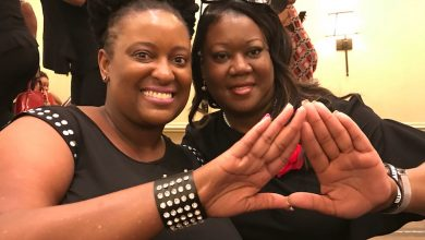 Photo of Sybrina Fulton Pledges Delta Sigma Theta