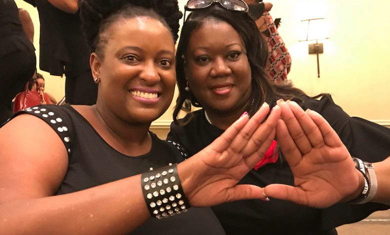 Sybrina Fulton (right), mother of Trayvon Martin, has become a member of Delta Sigma Theta Sorority Inc.'s Miami alumnae chapter. (Courtesy of LaShannon Petit via Instagram)