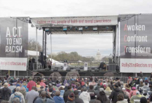 """The """"Act to End Racism"""" rally is held on the National Mall in D.C. on April 4, 2018, the 50th anniversary of the assassination of Dr. Martin Luther King Jr. (Shevry Lassiter/The Washington Informer)"""