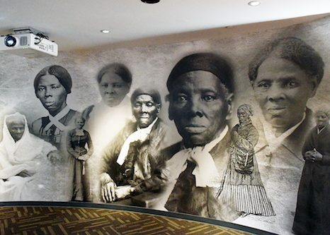Harriet Tubman escaped slavery and made over 70 documented rescues from Maryland, including her family. She became an abolitionist, civil war spy and suffragist. This mural called the Wall of Tubman depicts stages of her life as a slave to a free woman. (Roy Lewis/The Washington Informer)