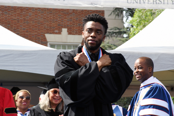 Photo of 'Black Panther' Star Chadwick Boseman Speaks at HU Commencement: 'Howard Forever'