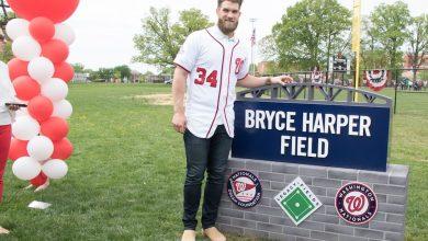 Photo of Bryce Harper Field Dedication