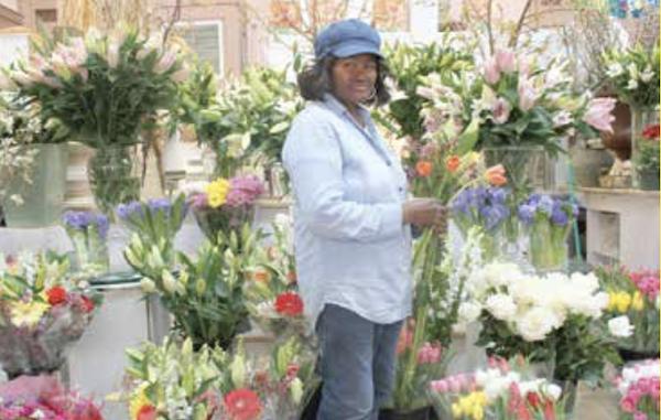Shopping for flowers (Brigette White/The Washington Informer)