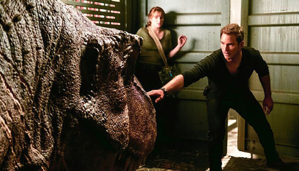 "Bryce Dallas Howard (left) and Chris Pratt star in ""Jurassic World: Fallen Kingdom."" (Courtesy of Universal Pictures)"