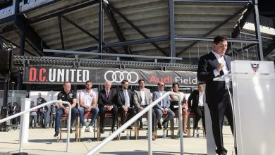 Photo of Mayor Bowser Cuts the Ribbon on Audi Field