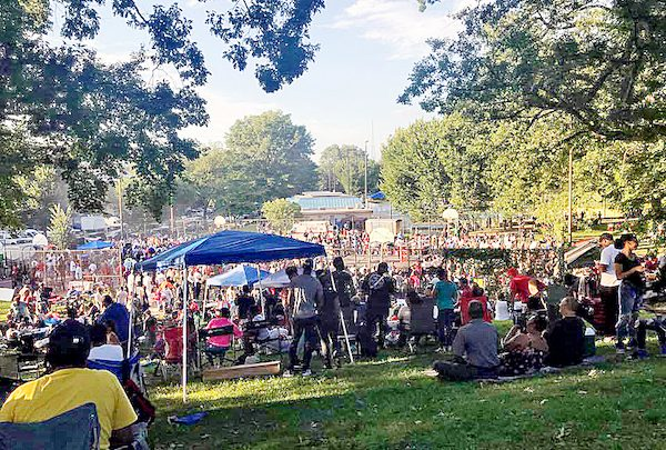 Hundreds of Black men, women and children converged Saturday afternoon on Upshur Recreation Center in northwest D.C. on during Cease Fire, Don't Smoke the Brothers and Sisters' 11th annual cookout and amateur boxing tournament. (Courtesy photo)
