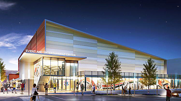 A rendering of the Entertainment and Sports Arena in Congress Heights