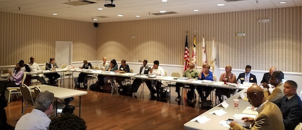The Prince George's County Democratic Central Committee meet on Aug. 21. (William J. Ford/The Washington Informer)