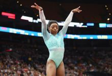 Photo of Biles' Teal Outfit Symbolizes Survivors of Sexual Assault