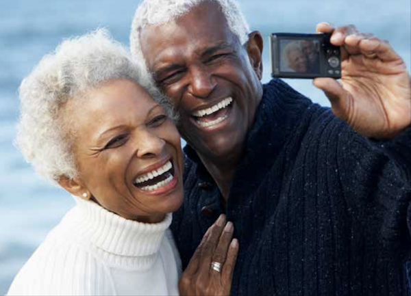 Grandparents enjoy a private moment before returning to the grandchildren. (Courtesy photo)