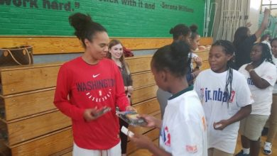 Photo of Mystics Host Youth Clinic Ahead of Game 3 of WNBA Finals