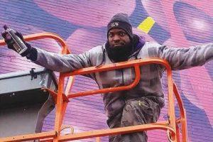 Aniekan Udofia, D.C. area painter and illustrator (Lafayette Barnes/The Washington Informer)